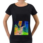 New Form Technology Women s Loose-Fit T-Shirt (Black) Front