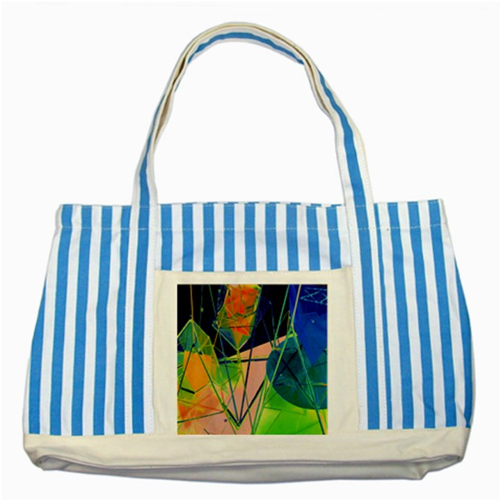 New Form Technology Striped Blue Tote Bag