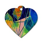 New Form Technology Dog Tag Heart (Two Sides) Back