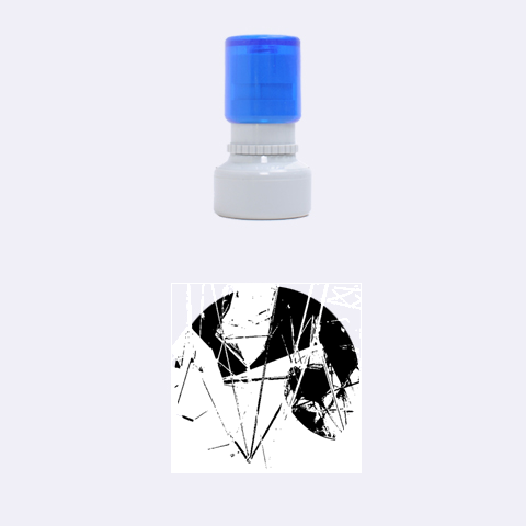 New Form Technology Rubber Round Stamps (Small)