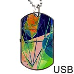New Form Technology Dog Tag USB Flash (Two Sides)  Back