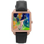 New Form Technology Rose Gold Leather Watch  Front