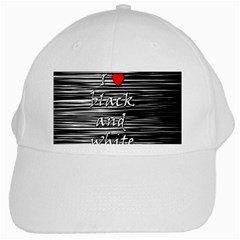 I love black and white 2 White Cap