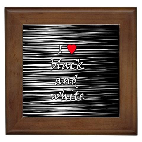 I love black and white 2 Framed Tiles