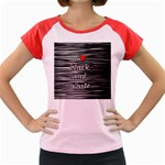 I love black and white 2 Women s Cap Sleeve T-Shirt Front