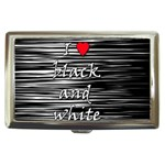 I love black and white 2 Cigarette Money Cases Front