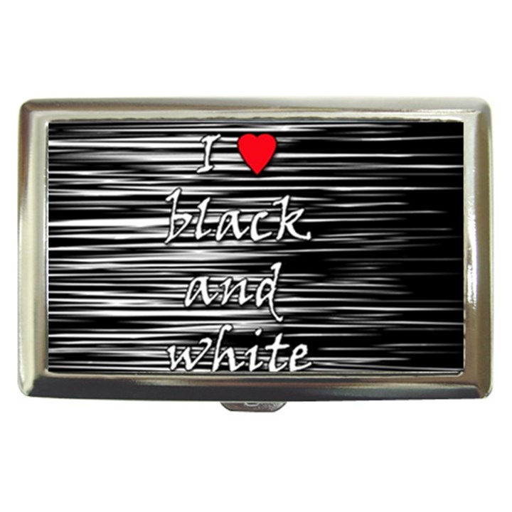 I love black and white 2 Cigarette Money Cases