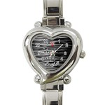I love black and white 2 Heart Italian Charm Watch Front
