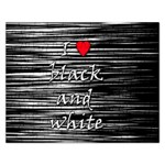 I love black and white 2 Rectangular Jigsaw Puzzl Front
