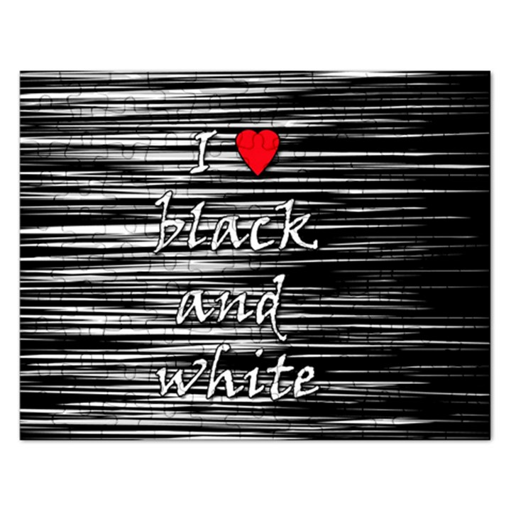 I love black and white 2 Rectangular Jigsaw Puzzl