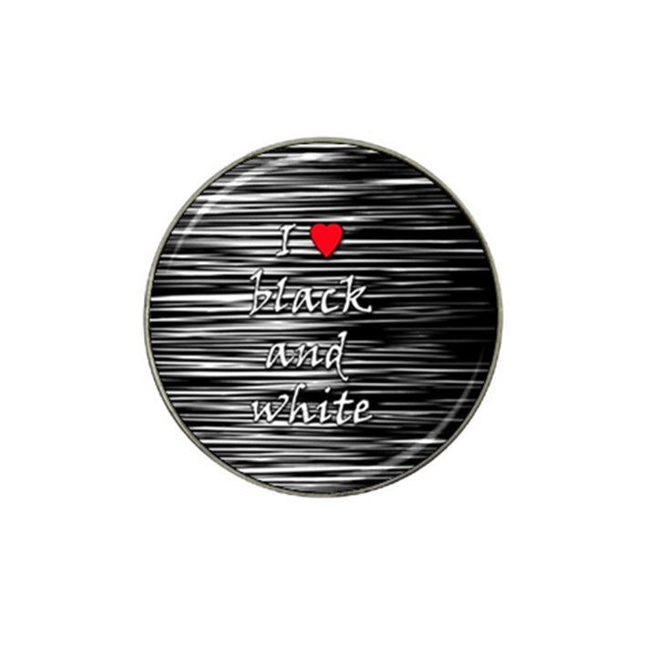 I love black and white 2 Hat Clip Ball Marker