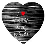 I love black and white 2 Jigsaw Puzzle (Heart) Front