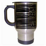 I love black and white 2 Travel Mug (Silver Gray) Left