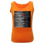 I love black and white 2 Women s Dark Tank Top Front