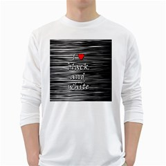 I Love Black And White 2 White Long Sleeve T Shirts
