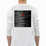 I love black and white 2 White Long Sleeve T-Shirts Back