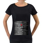 I love black and white 2 Women s Loose-Fit T-Shirt (Black) Front