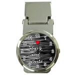 I love black and white 2 Money Clip Watches Front