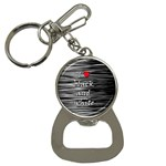 I love black and white 2 Bottle Opener Key Chains Front
