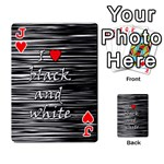 I love black and white 2 Playing Cards 54 Designs  Front - HeartJ