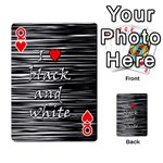 I love black and white 2 Playing Cards 54 Designs  Front - HeartQ