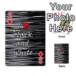 I love black and white 2 Playing Cards 54 Designs  Front - Diamond2