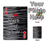 I love black and white 2 Playing Cards 54 Designs  Front - Diamond4