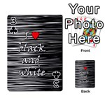 I love black and white 2 Playing Cards 54 Designs  Front - Club3