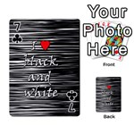 I love black and white 2 Playing Cards 54 Designs  Front - Club7