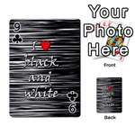 I love black and white 2 Playing Cards 54 Designs  Front - Club9