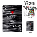 I love black and white 2 Playing Cards 54 Designs  Front - ClubQ