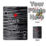 I love black and white 2 Playing Cards 54 Designs  Front - Spade7