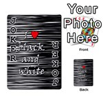 I love black and white 2 Playing Cards 54 Designs  Front - Joker1