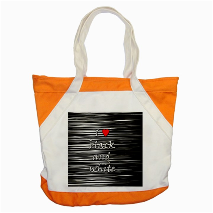 I love black and white 2 Accent Tote Bag
