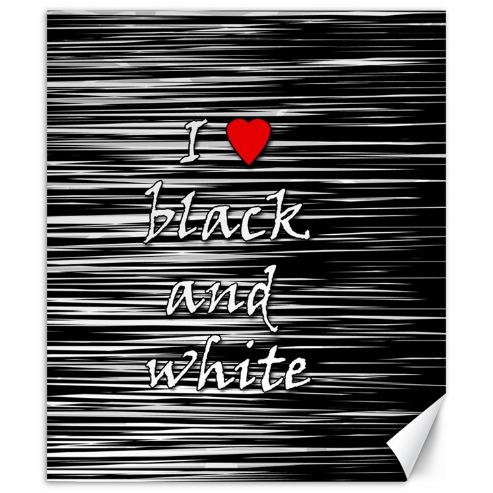 I love black and white 2 Canvas 20  x 24