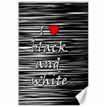 I love black and white 2 Canvas 24  x 36  36 x24 Canvas - 1