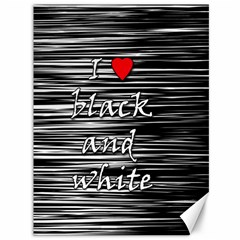 I love black and white 2 Canvas 36  x 48