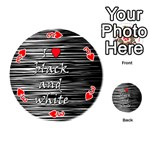 I love black and white 2 Playing Cards 54 (Round)  Front - Heart3