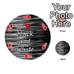 I love black and white 2 Playing Cards 54 (Round)  Front - Heart4