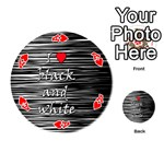 I love black and white 2 Playing Cards 54 (Round)  Front - HeartA
