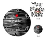 I love black and white 2 Playing Cards 54 (Round)  Front - Club9