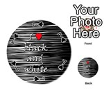 I love black and white 2 Playing Cards 54 (Round)  Front - Spade7