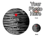 I love black and white 2 Playing Cards 54 (Round)  Front - Joker1