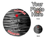 I love black and white 2 Playing Cards 54 (Round)  Front - Joker2