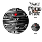 I love black and white 2 Playing Cards 54 (Round)  Front - Spade9