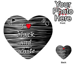 I love black and white 2 Playing Cards 54 (Heart)
