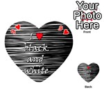 I love black and white 2 Playing Cards 54 (Heart)  Front - Heart9