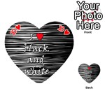 I love black and white 2 Playing Cards 54 (Heart)  Front - Heart10