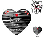 I love black and white 2 Playing Cards 54 (Heart)  Front - Diamond6