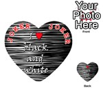 I love black and white 2 Playing Cards 54 (Heart)  Front - Joker2